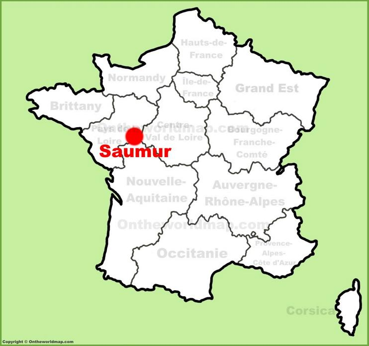 Saumur location on the France map