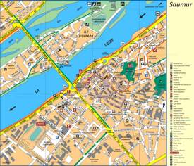 Saumur Tourist Attractions Map