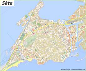Detailed Map of Sète