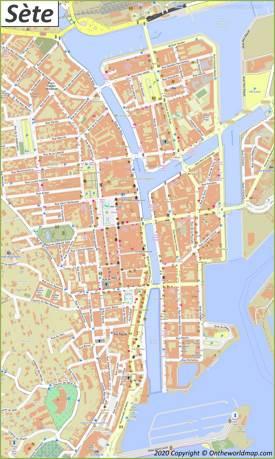 Sète City Center Map