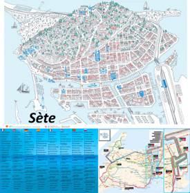 Sète Tourist Attractions Map