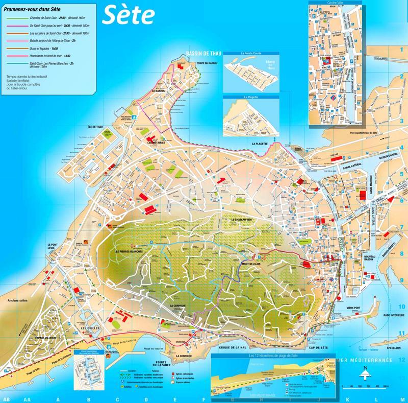 Map of Sète