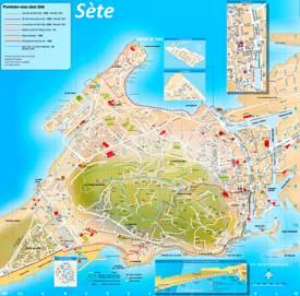 Sète Tourist Map
