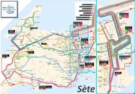 Sète Transport Map