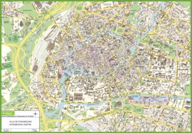 Strasbourg city center map