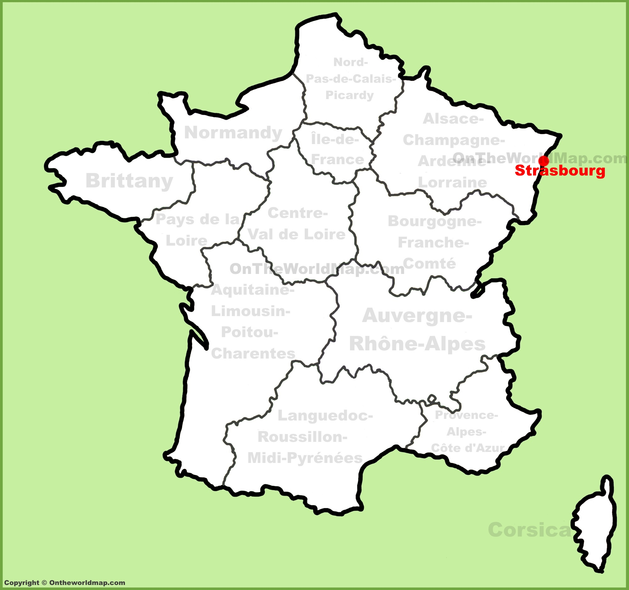 Strasbourg location on the France map