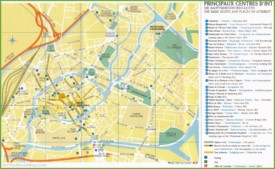 Strasbourg sightseeing map