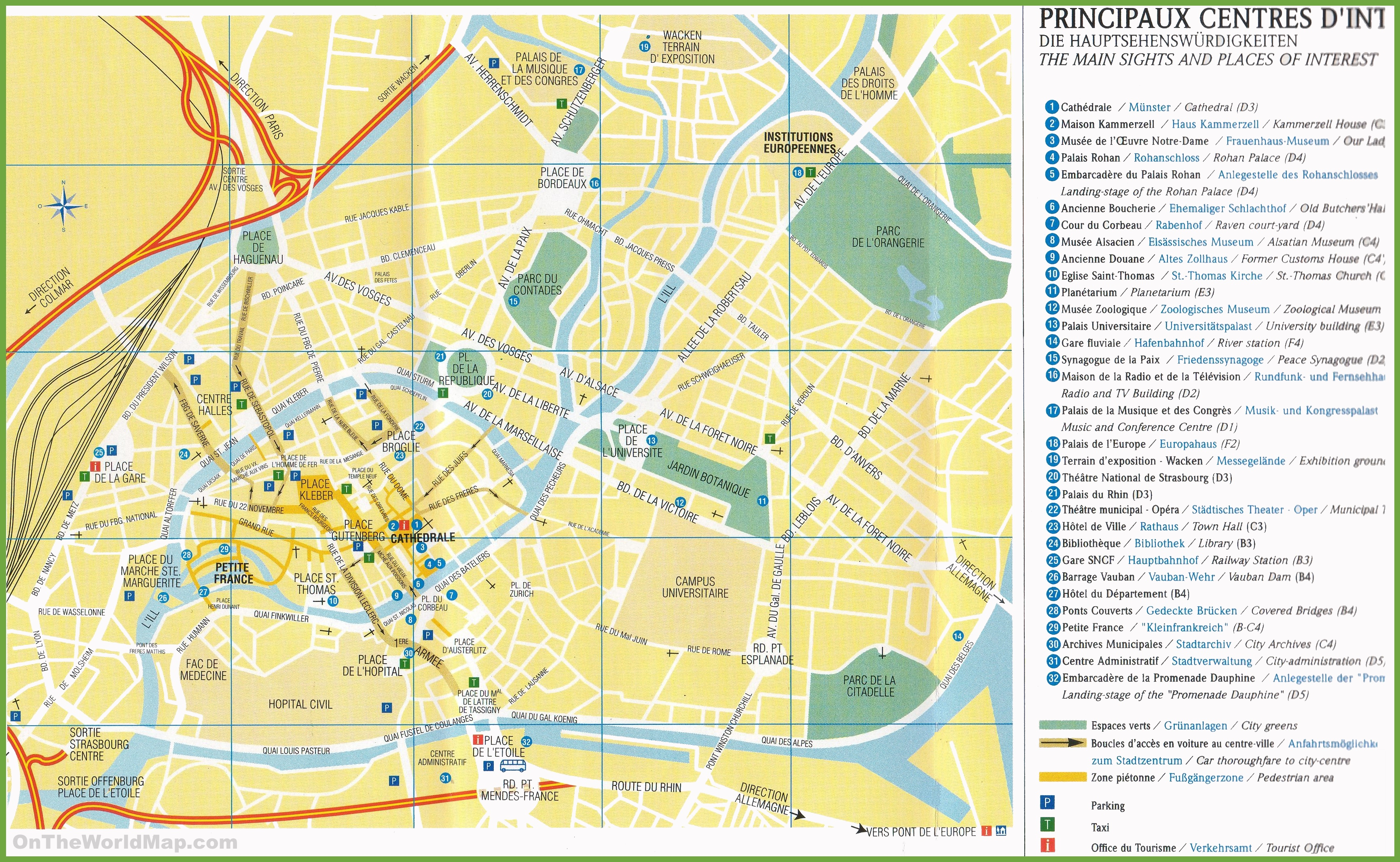 Strasbourg Maps France Maps of Strasbourg
