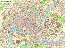 Strasbourg Tourist Attractions Map