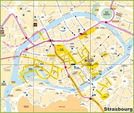Tourist map of Strasbourg City Center
