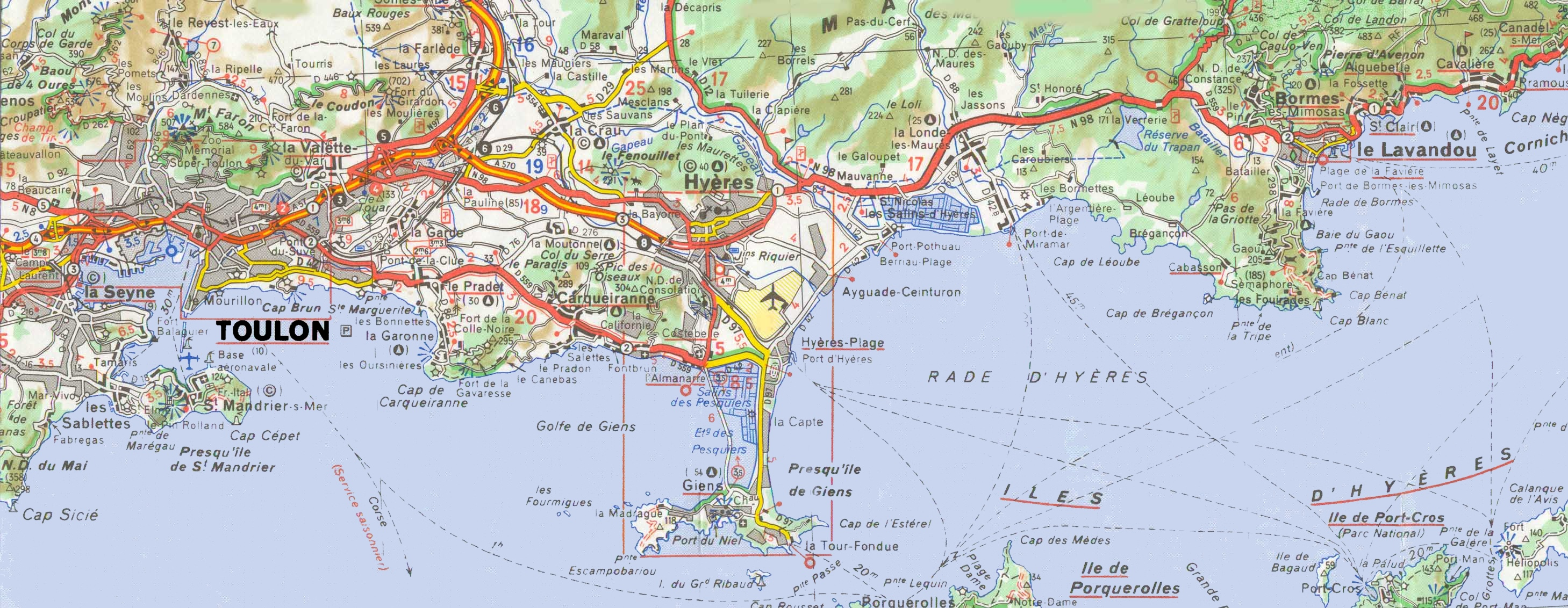 Toulon Maps France – Toulon Tourist Map