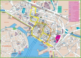 Toulon tourist map