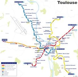 Toulouse metro map