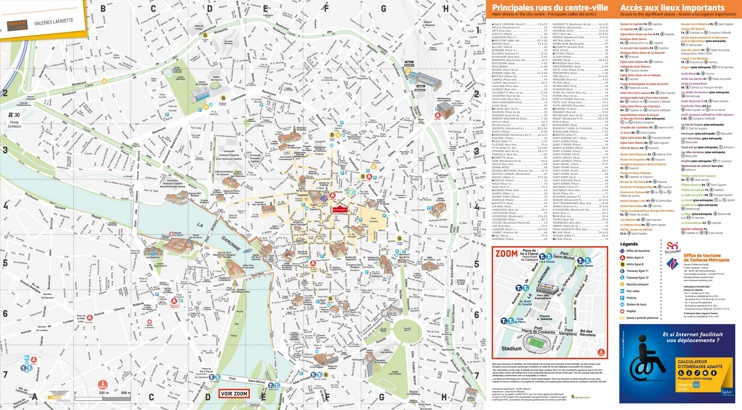 Toulouse tourist map