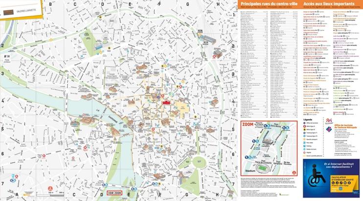 Toulouse tourist map
