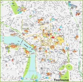 Map Of France Toulouse.Toulouse Maps France Maps Of Toulouse
