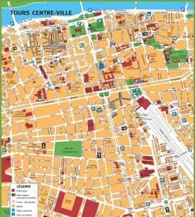 Tours tourist map