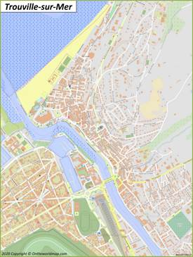Detailed Map of Trouville-sur-Mer