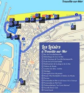 Trouville-sur-Mer Tourist Map