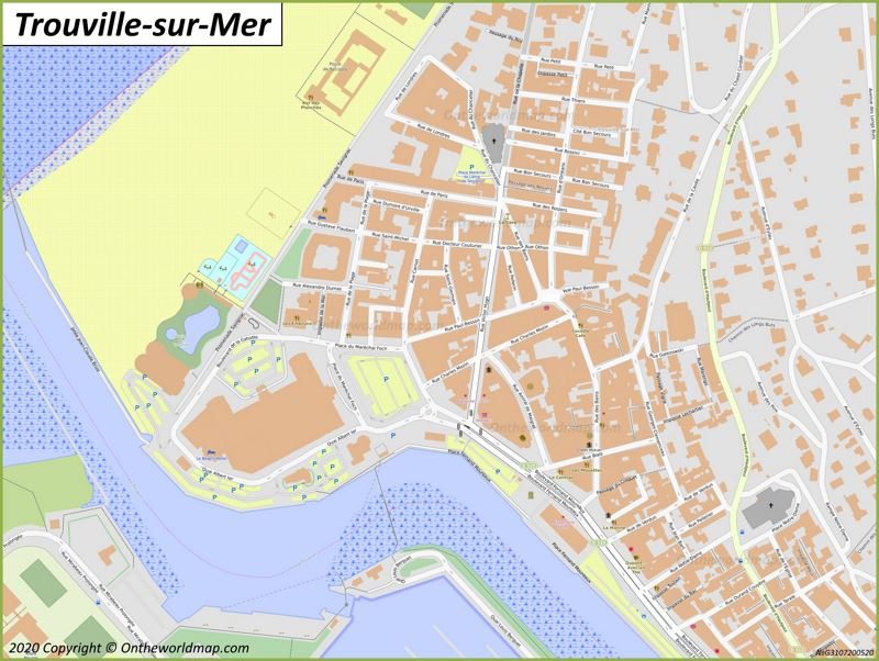 Map of Trouville