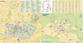 Troyes tourist map