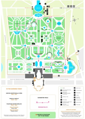 Palace of Versailles map