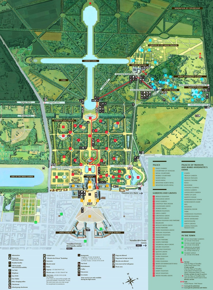 Versailles Map Of France.Palace Of Versailles Tourist Map