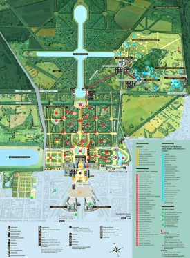 Palace of Versailles tourist map