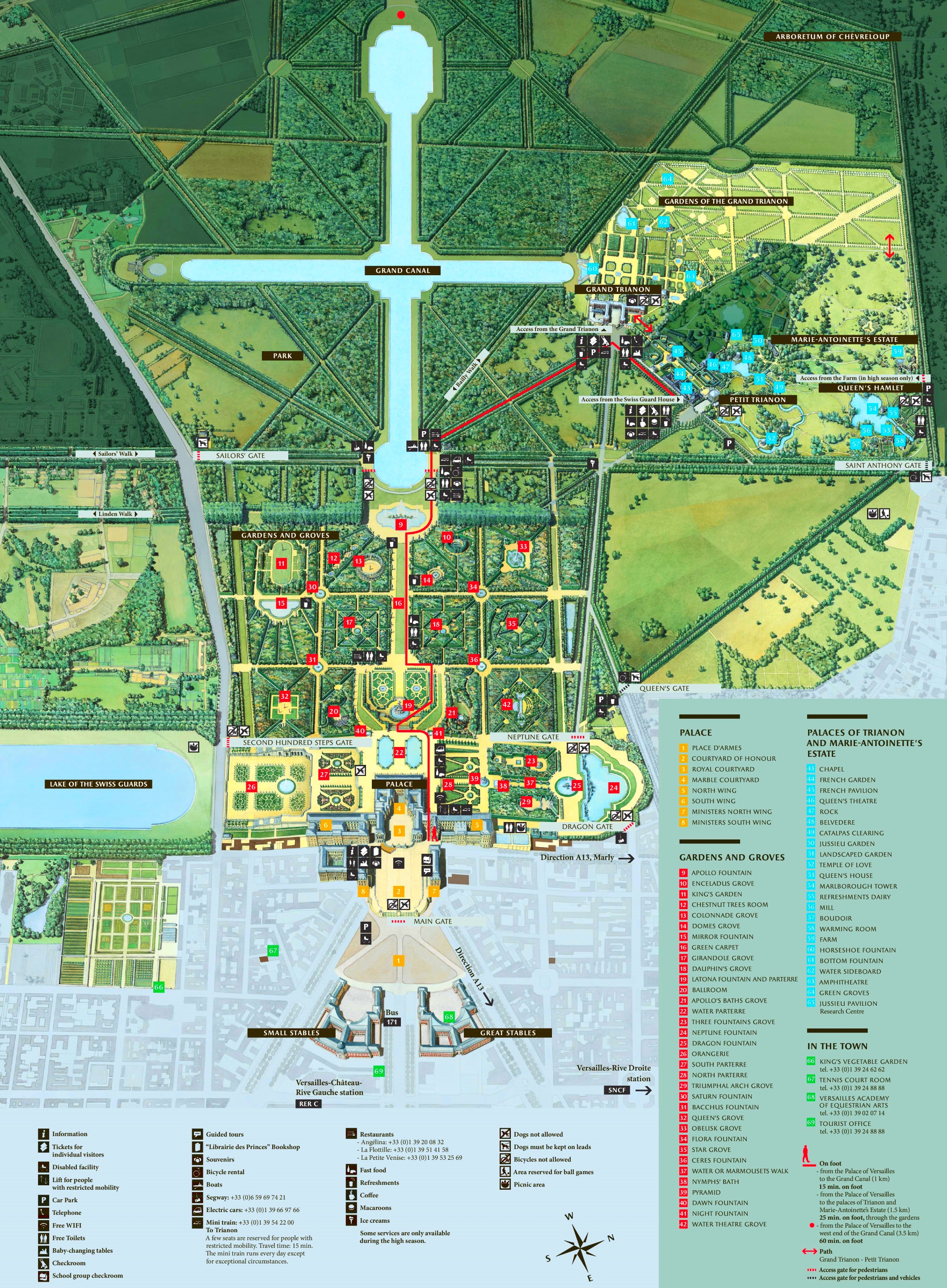 Map Of France Versailles.Palace Of Versailles Tourist Map