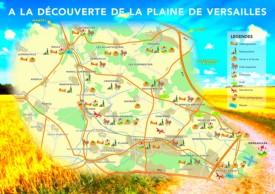 Versailles area tourist map