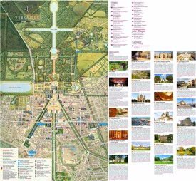 Versailles city hotels and sightseeings map