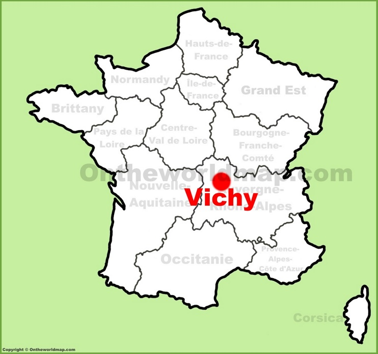 Vichy location on the France map
