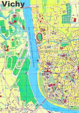 Vichy tourist map