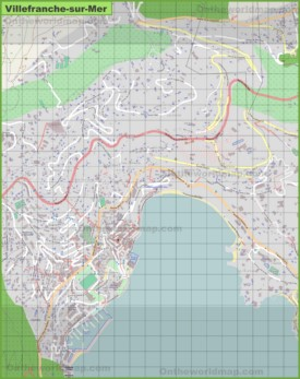 Large detailed map of Villefranche-sur-Mer