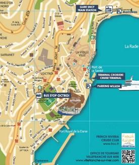 Villefranche-sur-Mer tourist map