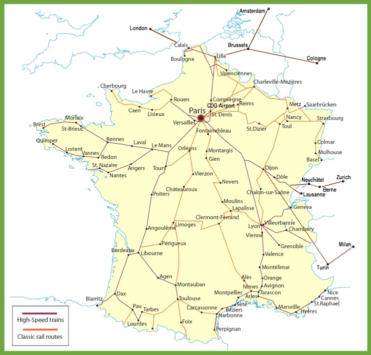 France railway map