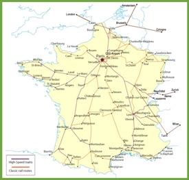 France railway map