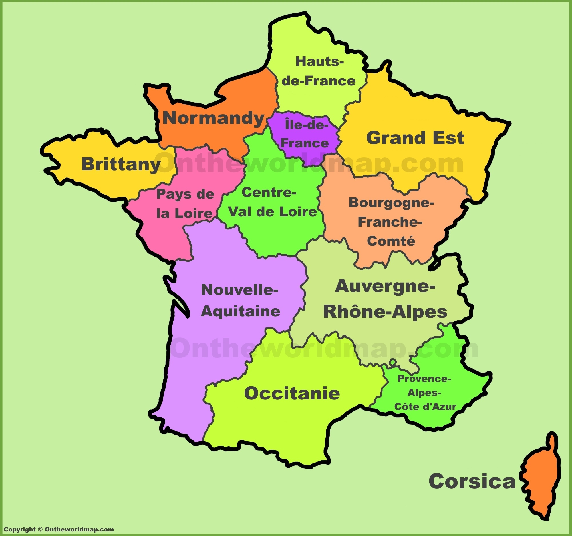Regions In France Map.France Regions Map New Regions Of France