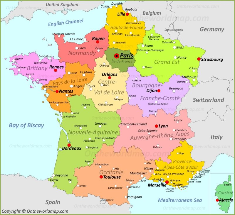 Map Of France Detailed.France Maps Maps Of France