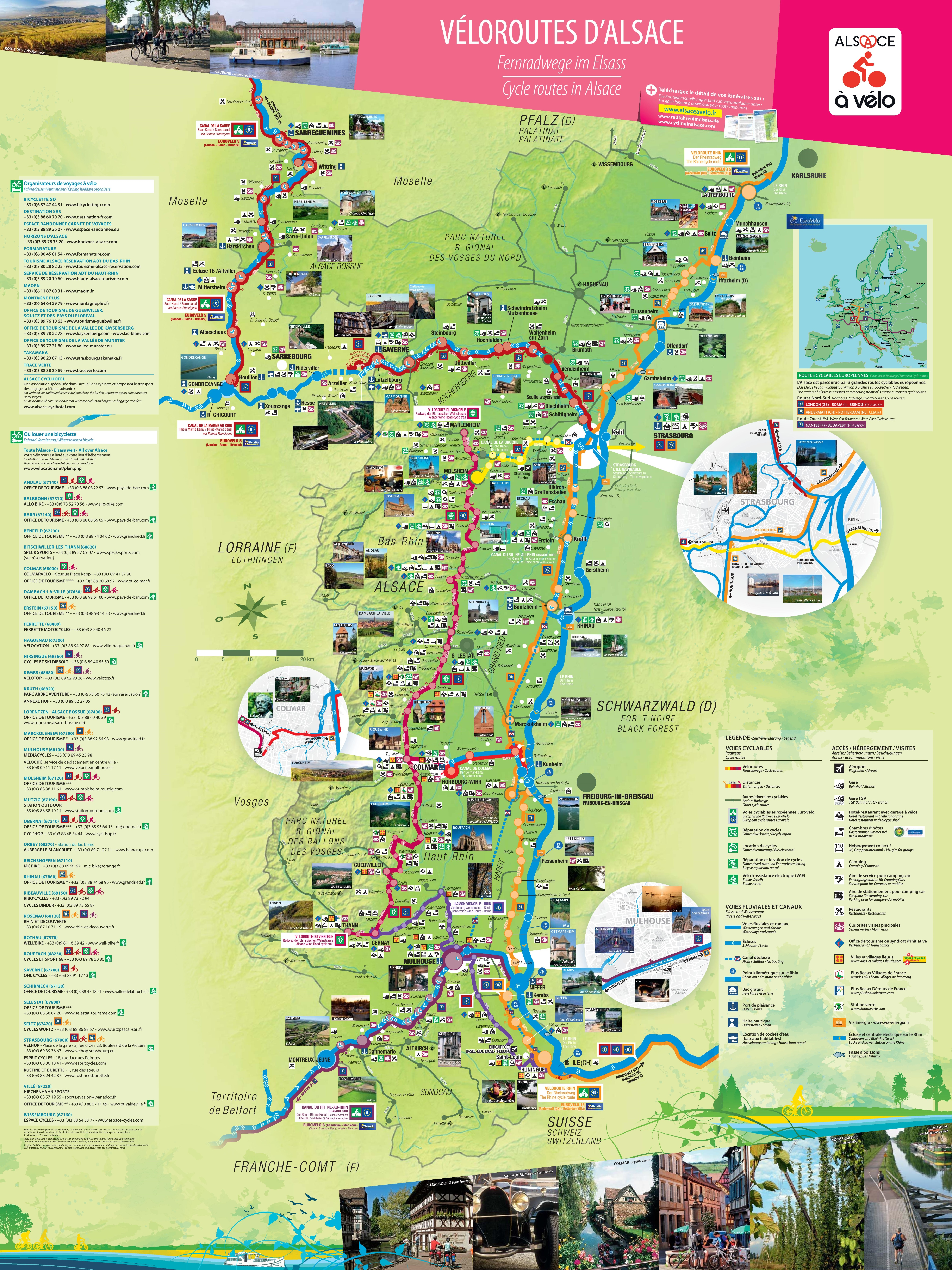 Alsace bike map