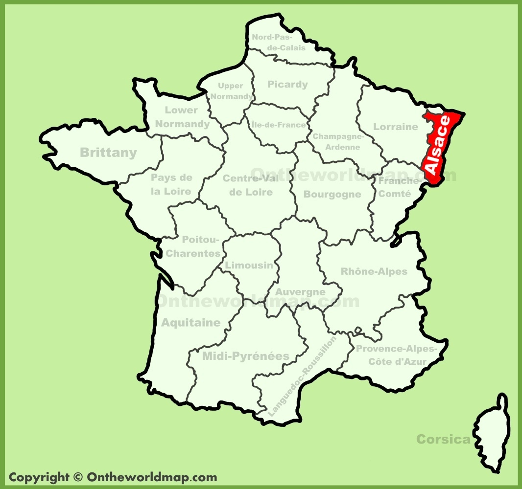 Alsace location on the France map