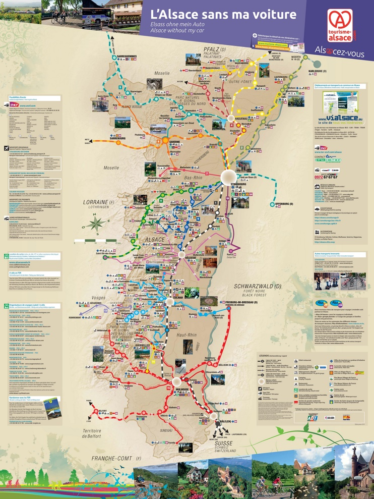 Alsace tourist map without car