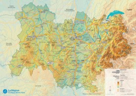 Large detailed map of Auvergne-Rhône-Alpes