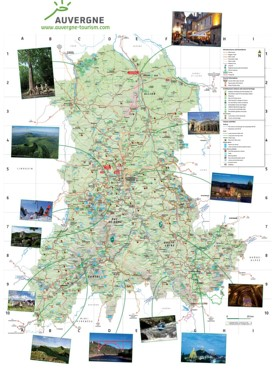 Auvergne Maps France Maps of Auvergne
