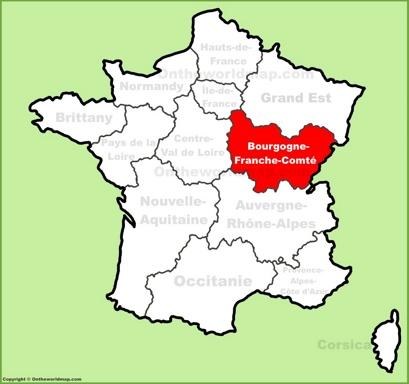 Bourgogne-Franche-Comté Location Map