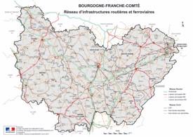 Bourgogne-Franche-Comté rail map
