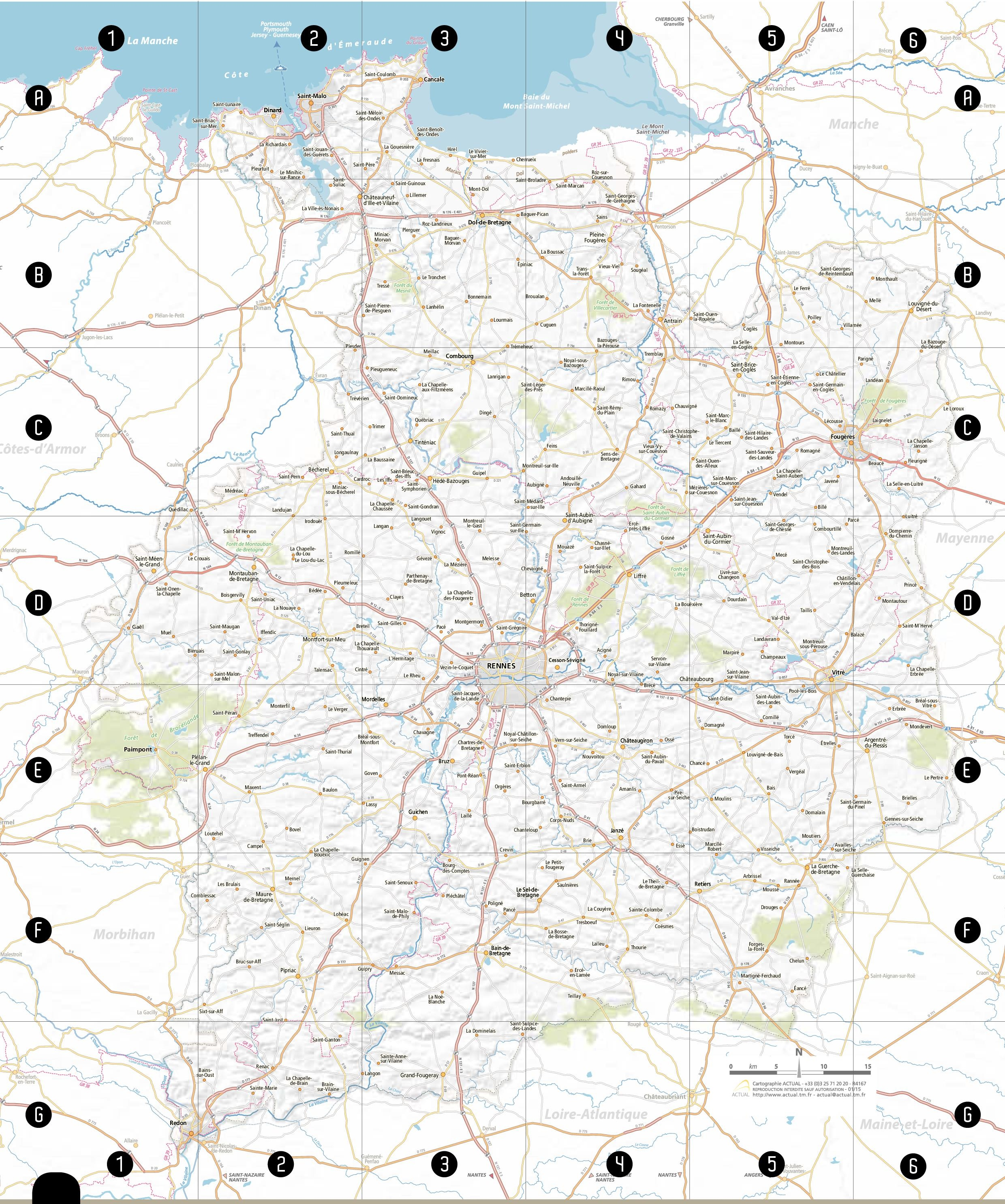 Upper Brittany road map
