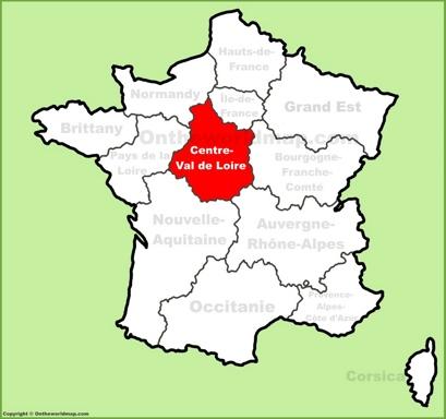 Centre-Val de Loire Location Map