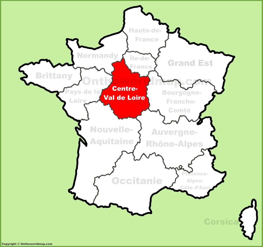 Centre-Val de Loire location on the France map