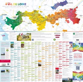 Val de Loire wine map